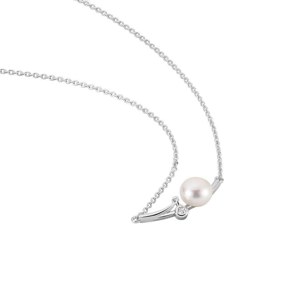 Damen Halskette Silber 925 Zuchtperlen 6-7mm - Ketten mit Anhänger Damen | Oro Vivo