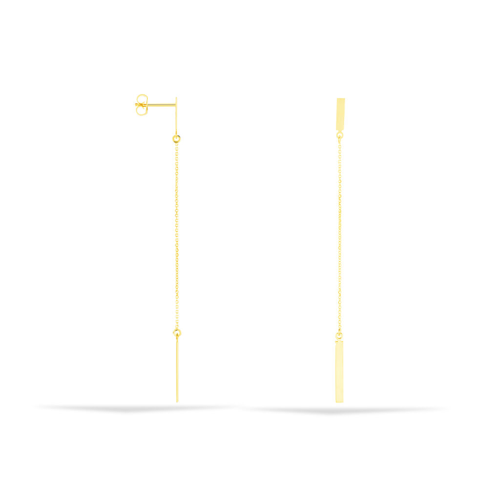 Damen Ohrstecker Lang Gold 375  - Ohrstecker lang Damen | Oro Vivo