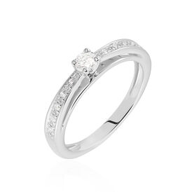 Damenring Weißgold 375 Diamant 0,15ct - Ringe mit Edelsteinen Damen | Oro Vivo