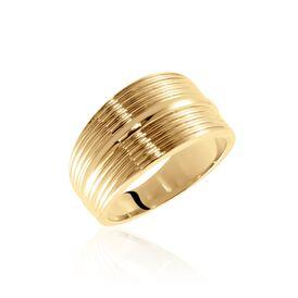 Damenring Messing Gold plattiert  - Ringe Damen   Oro Vivo