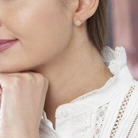 Damenohrhänger Silber 925 Rosé Vergoldet 8mm -  Damen | Oro Vivo
