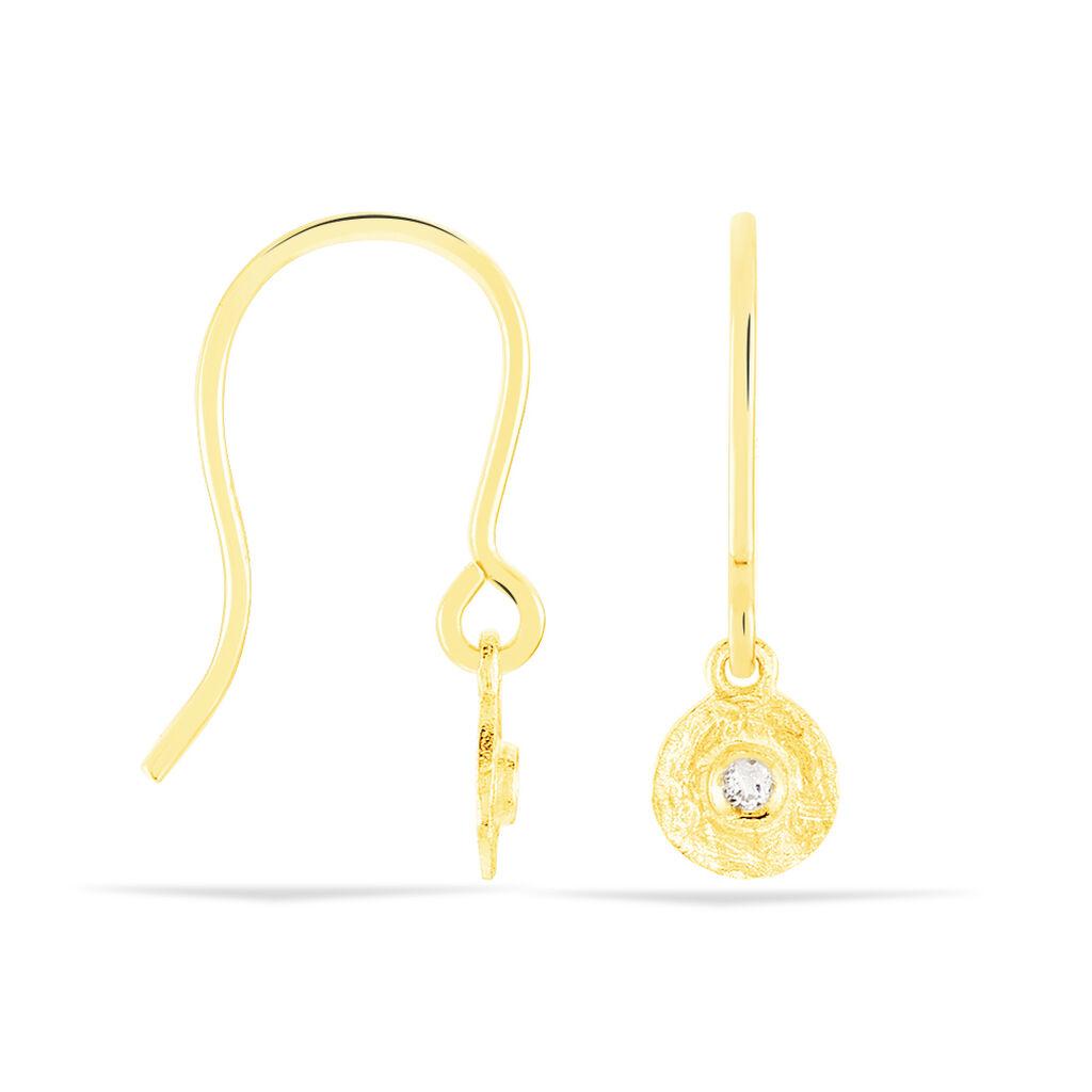 Damen Ohrhänger Gold 375 Zirkonia - Ohrhänger Damen | Oro Vivo