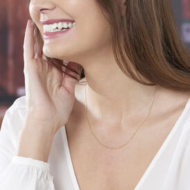 Damen Ankerkette Gold 375 Diamantiert 45cm - Ketten ohne Anhänger Damen | Oro Vivo