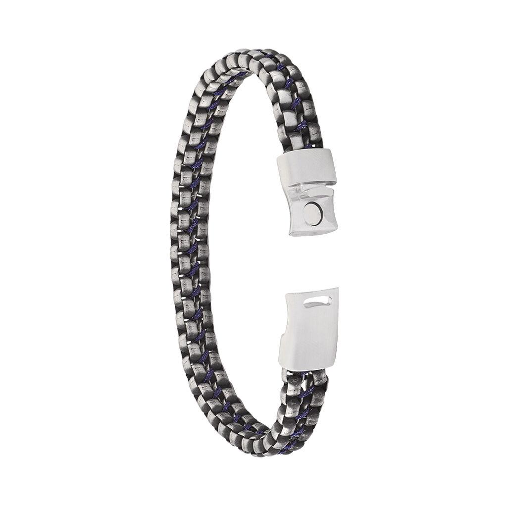 Herrenarmband Edelstahl Geschwärzt - Armbänder Herren   Oro Vivo