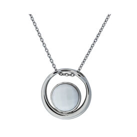 Damen Halskette Edelstahl Glasstein -  Damen   Oro Vivo