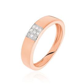 Damenring Roségold 333 Diamant 0,045ct - Ringe mit Edelsteinen Damen | Oro Vivo