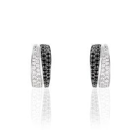 Damen Steckcreolen Silber 925 Zirkonia - Creolen Damen | Oro Vivo