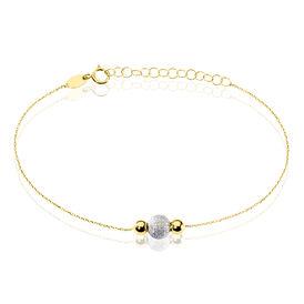 Damenarmband Gold 375 Kugel Silber - Armbänder Damen   Oro Vivo