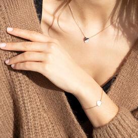 Damenarmband Silber 925 Rosé Vergoldet Herz - Armbänder Damen   Oro Vivo