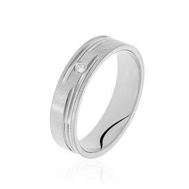 Damen Ehering Silber 925 Zirkonia - Eheringe Damen   Oro Vivo