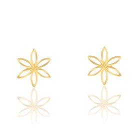Damen Ohrstecker Gold 375 Blume - Ohrstecker Damen | Oro Vivo