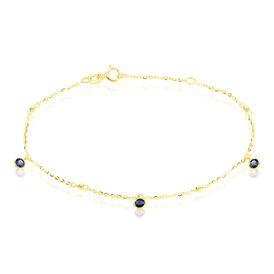 Damenarmband Gold 375 Blauer Zirkonia - Armbänder Damen | Oro Vivo