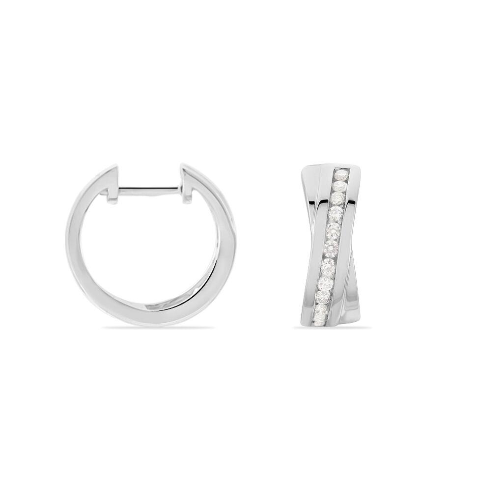 Damen Creolen Weißgold 750 Diamant 0,38ct  -  Damen | Oro Vivo