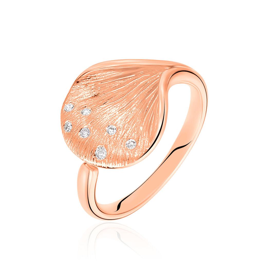 Damenring Roségold 750 Diamanten 0,054ct - Ringe mit Edelsteinen Damen | Oro Vivo