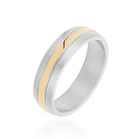 Herrenring Edelstahl Bicolor Vergoldet - Ringe Herren | Oro Vivo