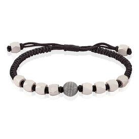 Herrenarmband Textil Geflochten Edelstahl - Armbänder Herren | Oro Vivo