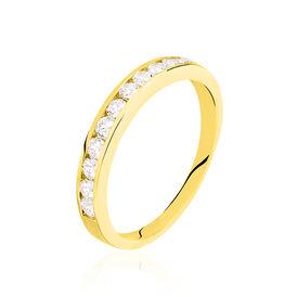Damenring Gold 375 Zirkonia - Eheringe Damen | Oro Vivo