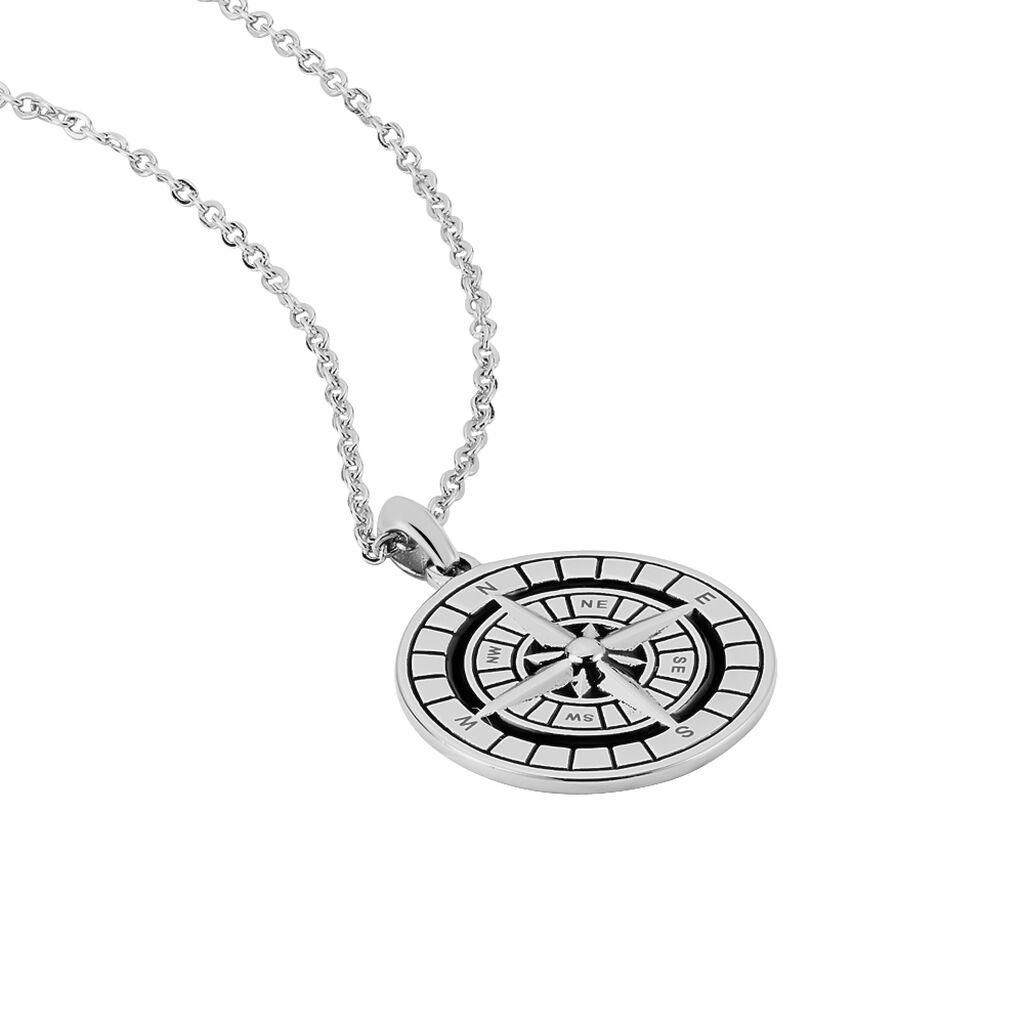 Herren Halskette Edelstahl Kompass - Ketten mit Anhänger Herren | Oro Vivo