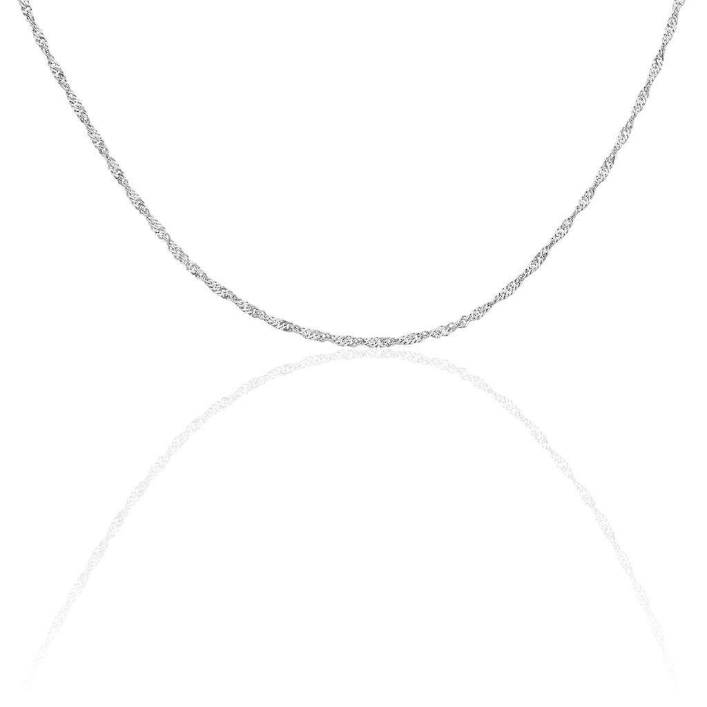 Damen Singapurkette Silber 925 45cm - Ketten ohne Anhänger Damen   Oro Vivo