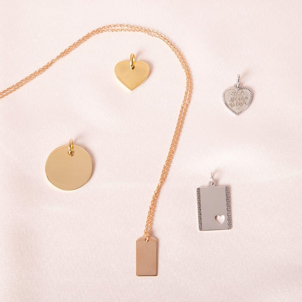 Anhänger Silber 925 Herz - Herzanhänger Damen | Oro Vivo
