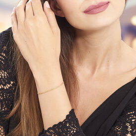 Damenarmband Figarokette Gold 375  - Armketten Damen   Oro Vivo