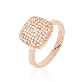 Damenring Vergoldet Roségold Zirkonia  - Ringe mit Stein Damen | Oro Vivo