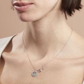 Damen Halskette Silber 925 Zirkonia Perlmutt -  Damen | Oro Vivo