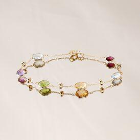Damenarmband Gold 375 Amethyst Topas Citrin Quarz - Armbänder  | Oro Vivo