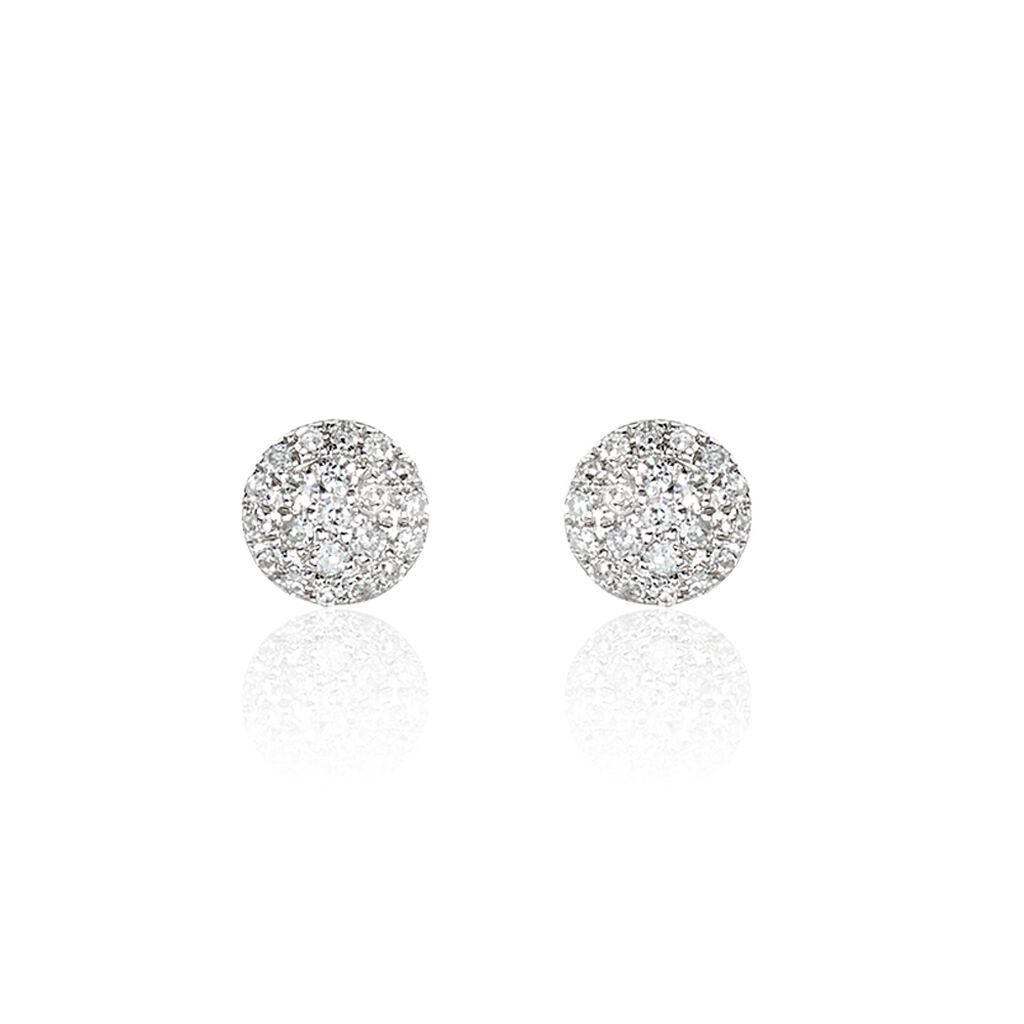 Damen Ohrstecker Weißgold 375 Diamant 0,084ct  - Ohrstecker Damen | Oro Vivo