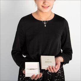 Kinder Halskette Silber 925 Zirkonia Herz - Herzketten Kinder   Oro Vivo
