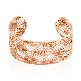 Damen Armreif Edelstahl Rosé Vergoldet Pfau - Armreifen  | Oro Vivo