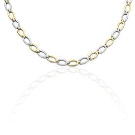 Boccia Damen Collier Titan Bicolor Vergoldet - Ketten ohne Stein Damen   Oro Vivo