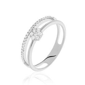 Damenring Weißgold 585 Diamanten 0,25ct - Black Friday Damen   Oro Vivo