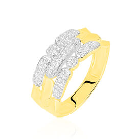 Damenring Gold 375 Diamanten 0,18ct - Ringe mit Edelsteinen    Oro Vivo