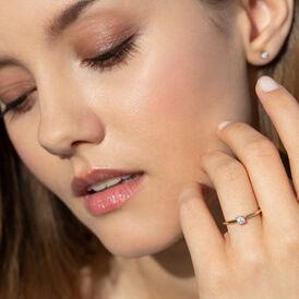 Damen Ohrstecker Gold 375 Diamant 0,08ct  - Ohrstecker Damen | Oro Vivo