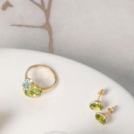 Damen Ohrstecker Gold 375 Peridot  - Ohrstecker Damen | Oro Vivo