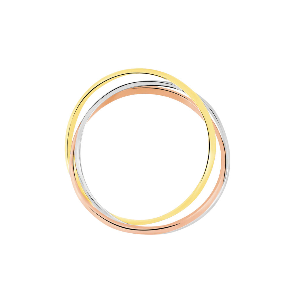 Damenring Gold 375 Tricolor - Ringe Damen | Oro Vivo