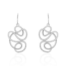 Damen Ohrhänger Lang Silber 925 Zirkonia - Ohrhänger    Oro Vivo