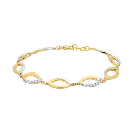 Damenarmband Vergoldet Bicolor Zirkonia - Armbänder  | Oro Vivo