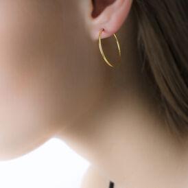 Damen Creolen Gold 375 25mm - Creolen Damen | Oro Vivo