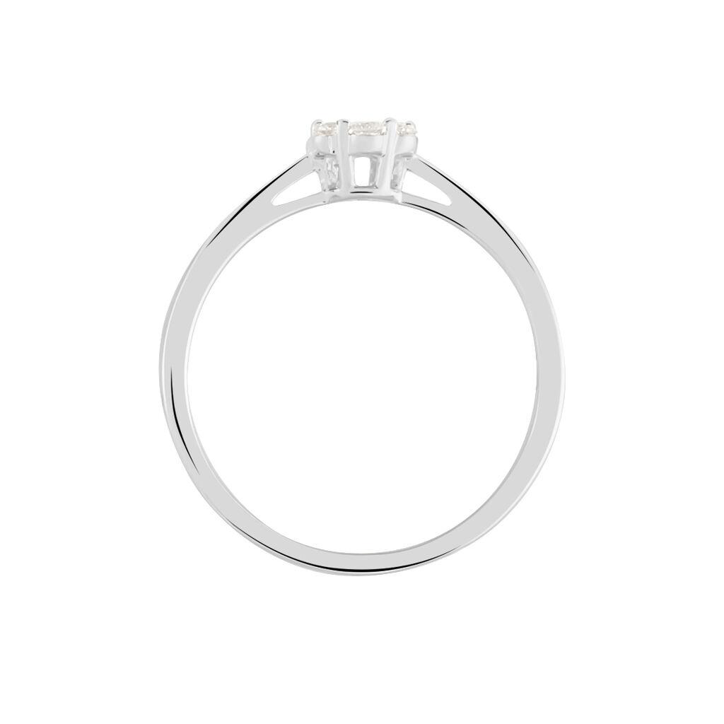 Damenring Weißgold 375 Diamanten 0,12ct - Ringe mit Edelsteinen Damen   Oro Vivo