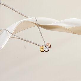 Damen Halskette Silber 925 Tricolor Vergoldet Herz - Herzketten Familie | Oro Vivo