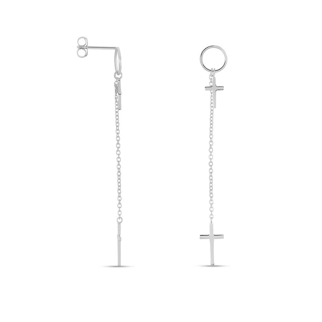 Damen Ohrstecker Lang Silber 925 Kreuz - Ohrstecker lang Damen | Oro Vivo