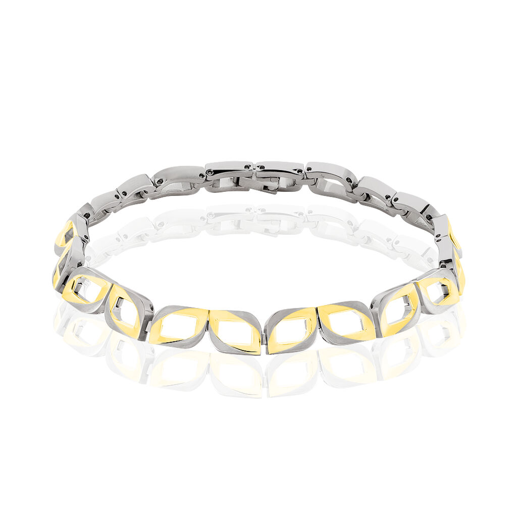 Boccia Damenarmband Titan Vergoldet Bicolor - Armbänder Damen   Oro Vivo