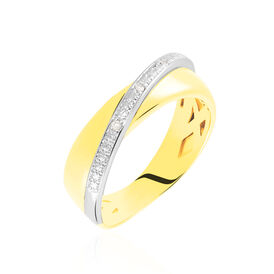 Damenring Gold 375 Diamanten 0,015ct - Black Friday Damen | Oro Vivo