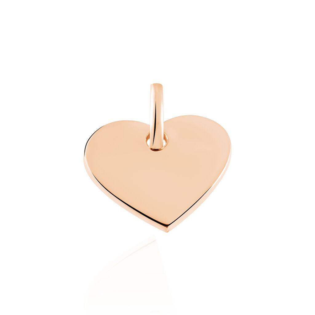 Anhänger Silber 925 Rosé Vergoldet Gravierbar Herz - Herzanhänger Damen | Oro Vivo