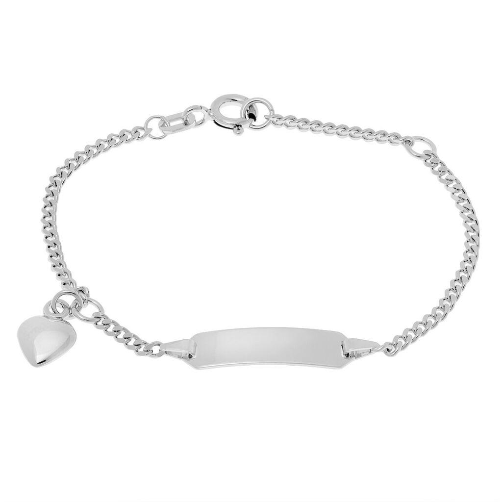 Kinder Id Armband Panzerkette Silber 925 Herz - ID-Armbänder Kinder   Oro Vivo