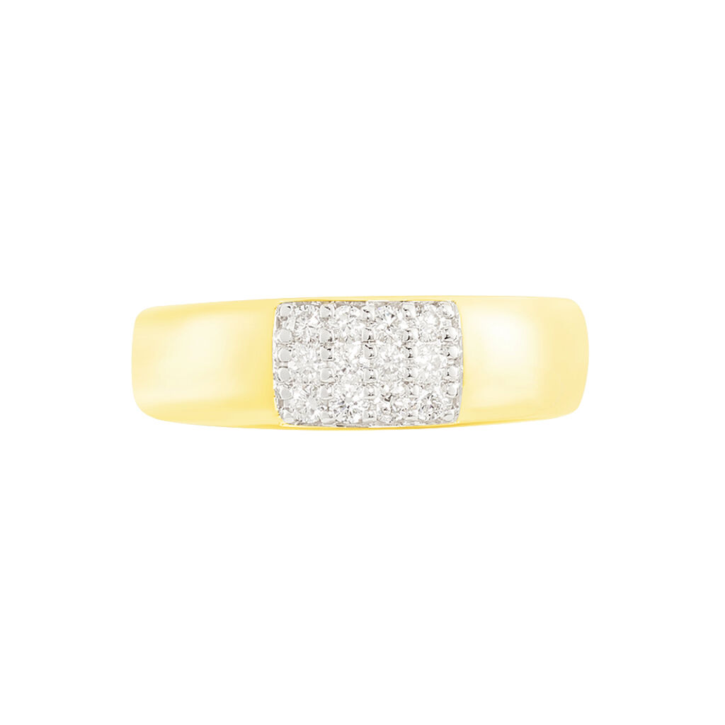 Damenring Gold 375 Diamant 0,252ct