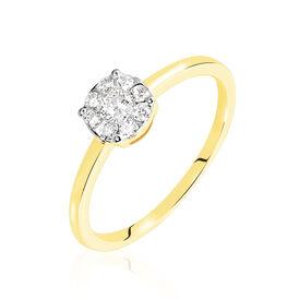 Damenring Gold 750 Diamanten 0,136ct - Ringe mit Edelsteinen Damen | Oro Vivo