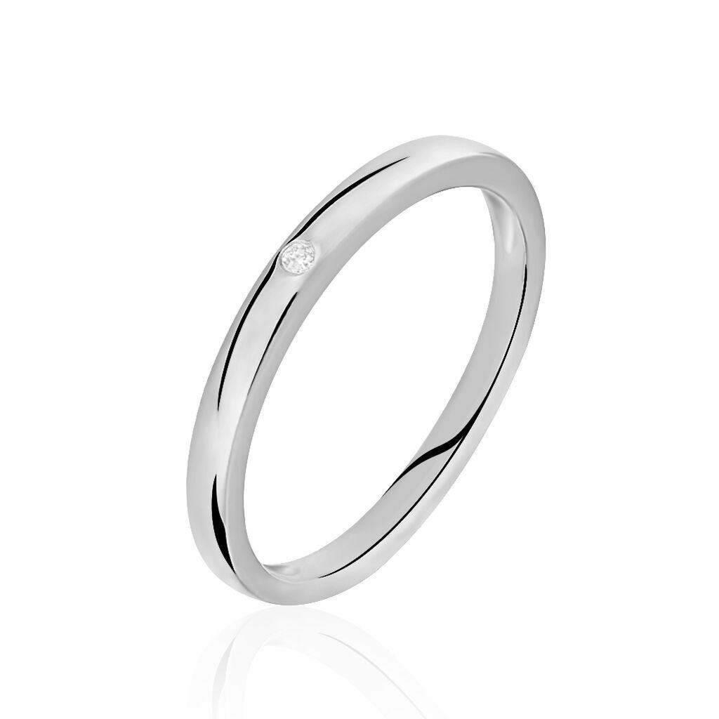 Solitärring Weißgold 375 Diamant 0,007ct - Ringe mit Edelsteinen Damen | Oro Vivo